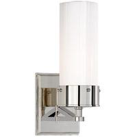Visual Comfort R-TOB2314PN-WG Thomas Obrien Marais 1 Light 4 inch Polished Nickel Bath Sconce Wall Light in White Glass Medium TOB2314PN-WG - Open