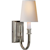 Visual Comfort Thomas OBrien Library 1 Light Decorative Wall Light in Polished Nickel TOB2327PN-NP - Open Box