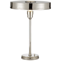 Visual Comfort Thomas OBrien Carlo 1 Light Task Table Lamp in Polished Nickel TOB3190PN - Open Box