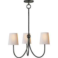 Visual Comfort Thomas OBrien Small Reed Chandelier in Bronze with Natural Paper Shades TOB5009BZ-NP - Open Box photo thumbnail