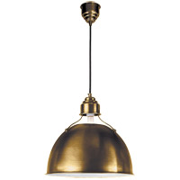 Visual Comfort Thomas OBrien Eugene 1 Light 16 inch Hand-Rubbed Antique Brass Pendant Ceiling Light TOB5013HAB - Open Box