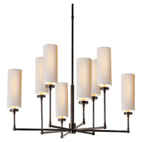 Visual Comfort Thomas OBrien Large Ziyi Chandelier in Bronze with Natural Paper Shades TOB5016BZ-NP - Open Box