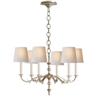 Visual Comfort Thomas OBrien Channing 6 Light 28 inch Burnished Silver Leaf Chandelier Ceiling Light in (None) TOB5119BSL-NP - Open Box
