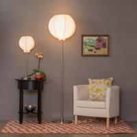 Lights UP Oscar Boudoir 18 inch 60 watt Carrot Table Lamp Portable Light in Natural Linen 260CA-NAT - Open Box