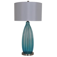 Crestview Collection R-CVABS758 Sea Breeze 32 inch 150 watt Blue Table Lamp Portable Light CVABS758 - Open Box