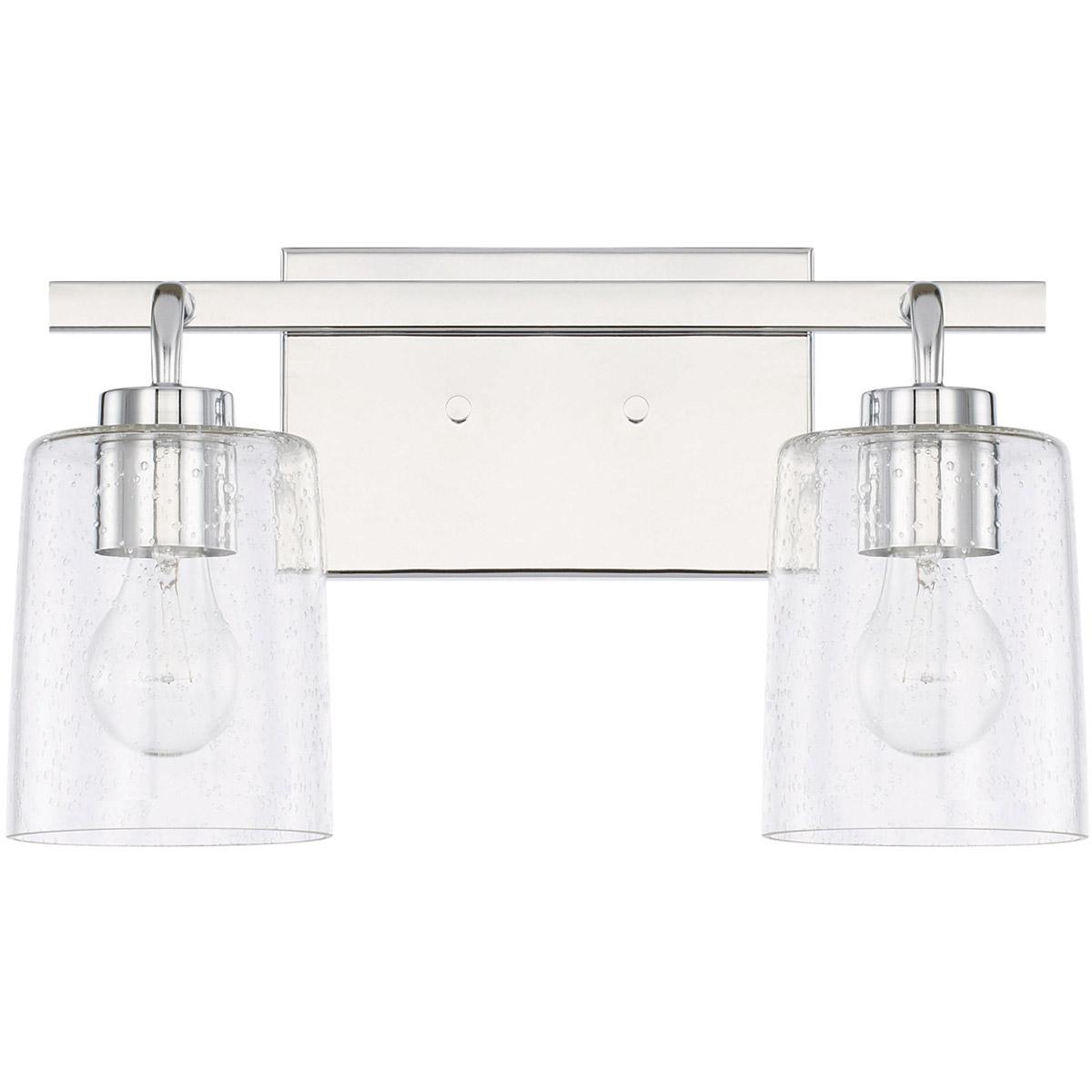 Capital lighting fixtures 128521ch 449 open box greyson bathroom vanity light
