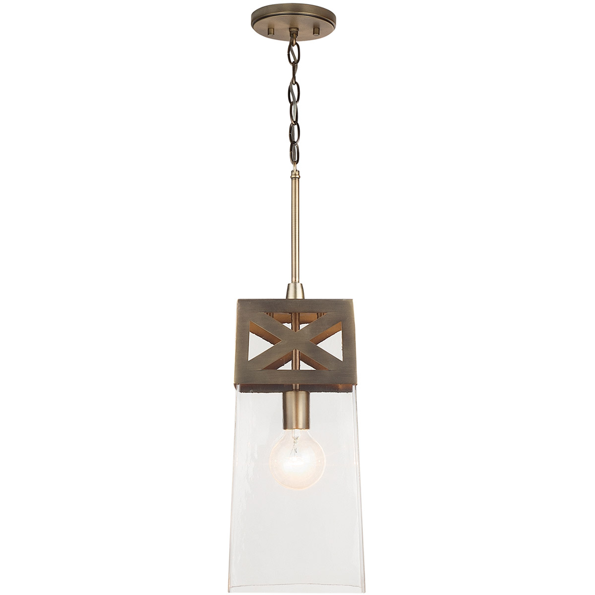 Details About Capital Lighting Fixtures 332511ad Open Box Signature Pendant Aged Br
