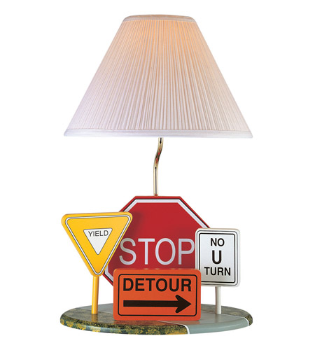 Lite source highway signs 1 light table lamp 3hs20106 for 100 watt table lamps