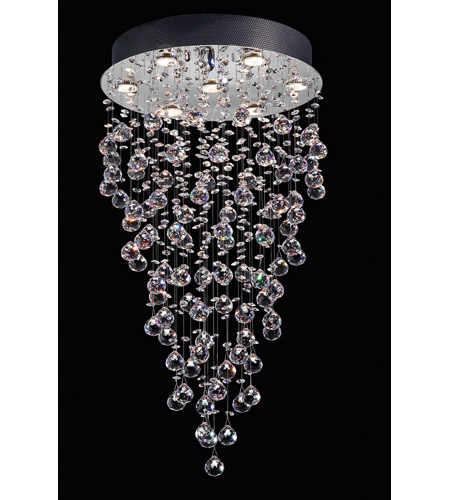 Lite Source EL-10070 Girolamo 7 Light 20 inch Chrome and Clear Chandelier Ceiling Light photo