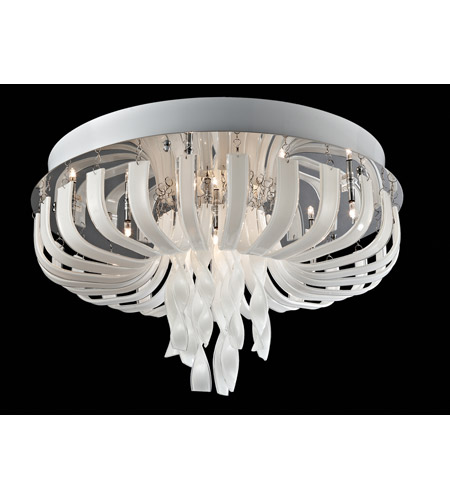 Lite Source EL-50080 Ribbon 12 Light 22 inch Chrome and Clear Flush Mount Ceiling Light photo