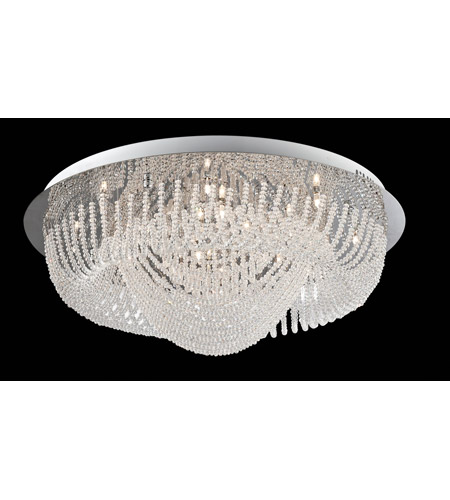 Lite Source Orella 24 Light Flush Mount in Chrome with Crystal EL-50086 photo