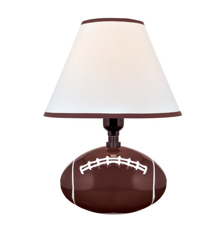 Lite Source Ik 6100 Pass Me 12 Inch 11 Watt Football Ceramic Table