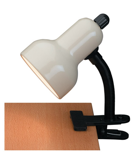 Lite Source Clip-on 1 Light Clamp-on Lamp in Ivory LS-111IVY photo