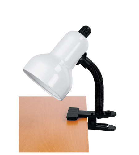Lite Source Clip-on 1 Light Clamp-on Lamp in White LS-111WHT photo