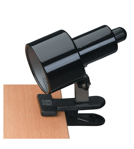 Lite Source Clip-on 1 Light Clamp-on Lamp in Black LS-112BLK photo