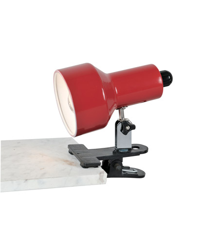 Lite Source Clip-on II 1 Light Clamp-on Lamp in Red LS-114RED photo