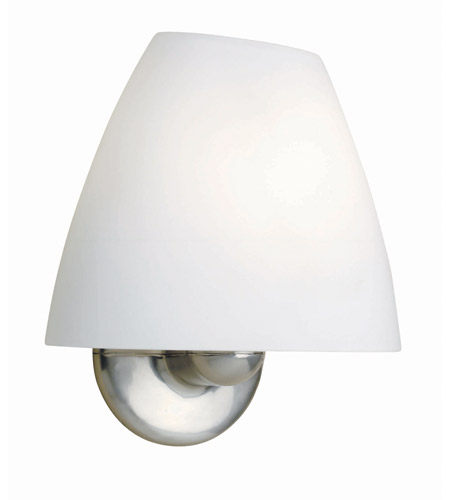 Lite Source Lunar 1 Light Wall Lamp in Polished Steel with Frost Glass Shade LS-1191PS/FRO photo