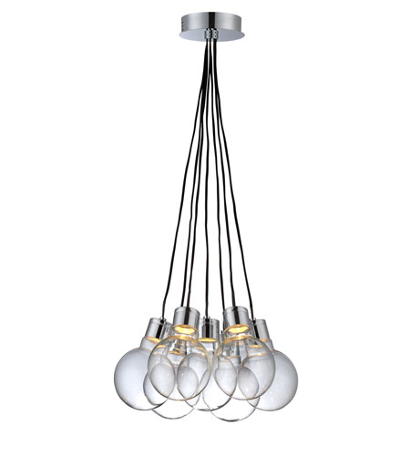 Lite Source Erix LED Chandelier in Chrome with Clear Glass LS-19227 photo