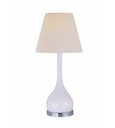 Lite Source Aleta 2 Light Cfl Table Lamp In Chrome And White Gl With Fabric