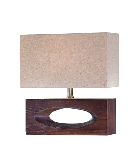 Lite Source Ls 21618 Pierre 14 Inch 13 Watt Dark Walnut Table Lamp