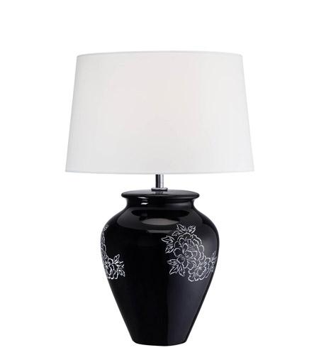 Lite Source Ls 22033 Aileen 23 Inch 23 Watt Black Ceramic Table Lamp