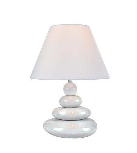 Lite Source Ls 22112wht Tiya 16 Inch 13 Watt White Ceramic Table