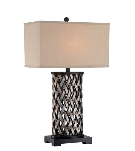 Aged Silver Table Lamps