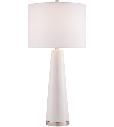 Tyrone 28 Inch 150 Watt White And Clear Table Lamp Portable Light