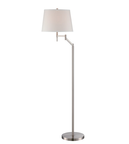 Lite source ls 82138 eveleen 52 inch 23 watt polished steel floor lite source ls 82138 eveleen 52 inch 23 watt polished steel floor lamp portable light aloadofball Gallery