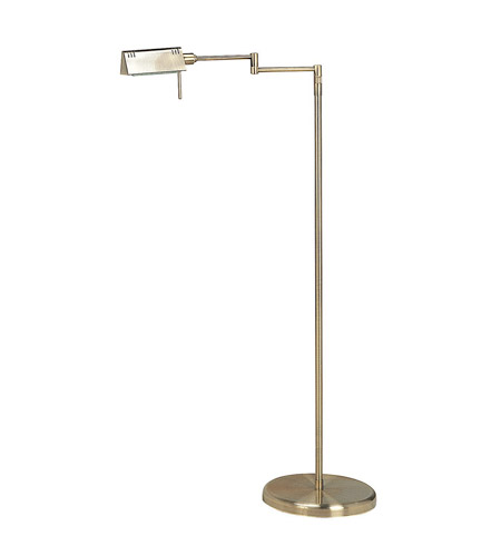 pharma 55 inch 100 watt antique brass floor lamp portable light photo. Black Bedroom Furniture Sets. Home Design Ideas