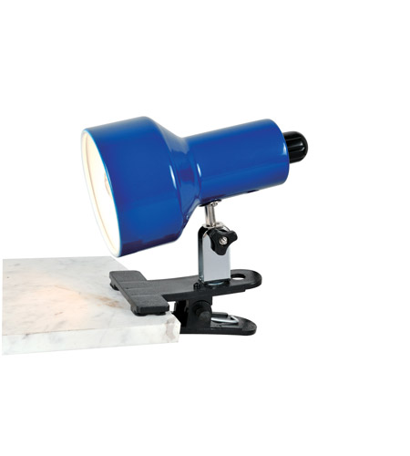 Lite Source Clip-on II 1 Light CFL Clamp-on Lamp in Blue LSF-114BLU photo