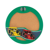 Indy Car Green Corkboard