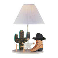 Cowboy 22 inch 100 watt Beige Table Lamp Portable Light