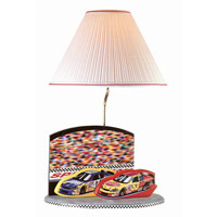 Nascar Lamp 22 inch 100 watt Gray Table Lamp Portable Light
