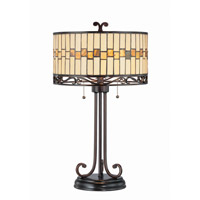 Omora 27 inch 13 watt Dark Bronze Table Lamp Portable Light