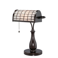 Lite Source Emmly 1 Light CFL Desk Lamp in Dark Bronze with Shell Shade C41213