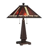 Crimson 25 inch 13 watt Dark Bronze Table Lamp Portable Light