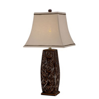 Lite Source Natalii 1 Light Table Lamp in Coffee Ceramic with Fabric Shade C41282