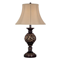 Guildford 30 inch 100 watt Dark Bronze and Antique Gold Table Lamp Portable Light