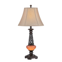 Lite Source C41321 Ellis 32 inch 23 watt Dark Bronze and Amber Table Lamp Portable Light