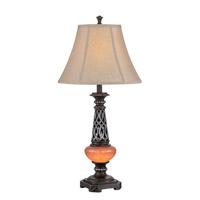 Lite Source C41321 Ellis 32 inch 23 watt Dark Bronze and Amber Table Lamp Portable Light