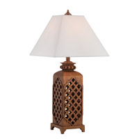 Misha 31 inch 23 watt Rusted Bronze Table Lamp Portable Light