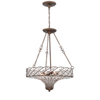 Signature 8 Light 23 inch Mocha Pendant Ceiling Light