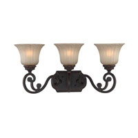 Signature 3 Light 23 inch Antique Bronze Vanity Light Wall Light