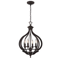 Signature 4 Light 16 inch Dark Bronze Pendant Ceiling Light