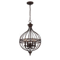 Signature 4 Light 16 inch Antique Bronze Pendant Ceiling Light