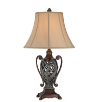 Kylmeore 29 inch 25 watt Two Tone Table Lamp Portable Light