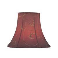 Accessories Red Jacquard Chandelier Shade
