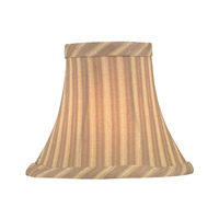 Lite Source Accessories Chandelier Shade in Beige Striped CH5133-6