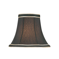 Lite Source Accessories Chandelier Shade in Black with Gold Trim CH5138-6